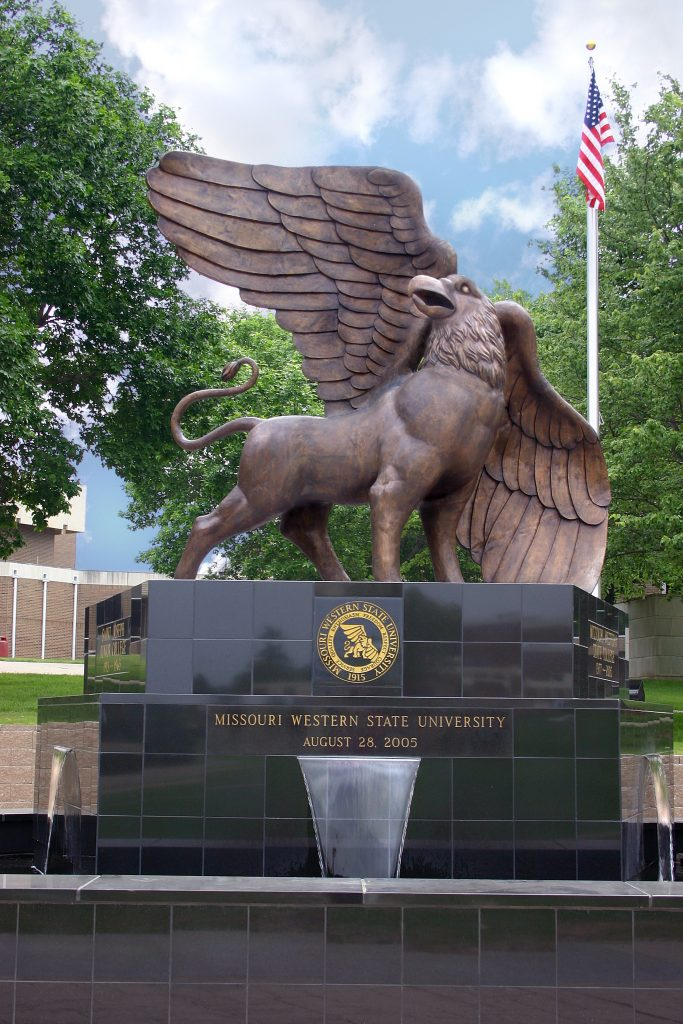 MWSU 10ft Bronze Griffin Installed