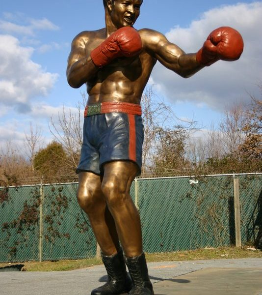 Bronze Muhammad Ali Boxer limited edition of 2, only 1 available.