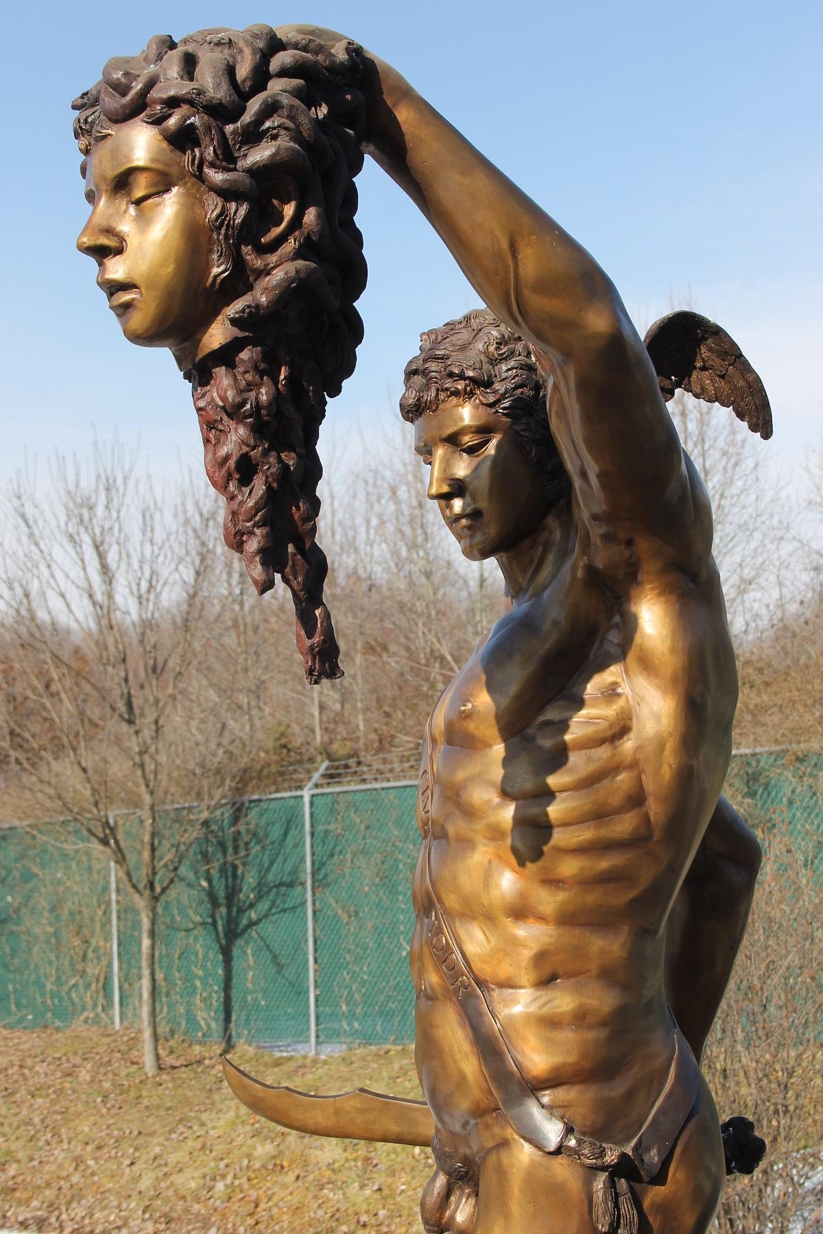 perseus slaying medusa bigbronzecom greek statue