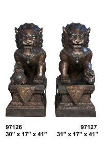 97126-27 lion pair