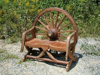 Wagon Wheel Bench 2 Seat