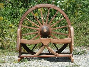 Wagon Wheel Bench 2 Seat