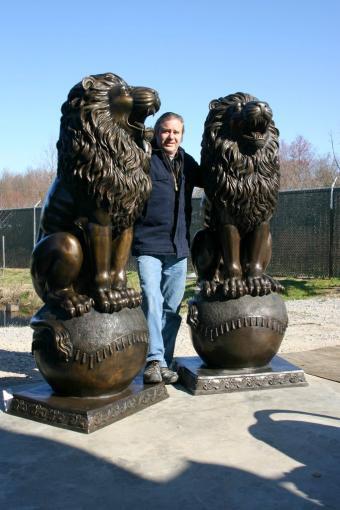 Bronze Royal Palace Lion Pair Large