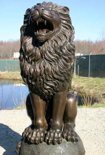 Bronze Royal Palace Lion Pair Medium Size