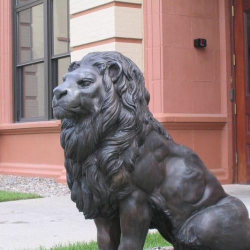 Bronze Gateway Pair of Lions