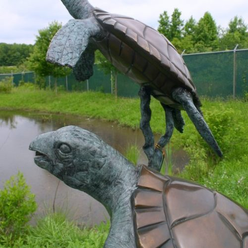 Bronze Two Turtles Fountain