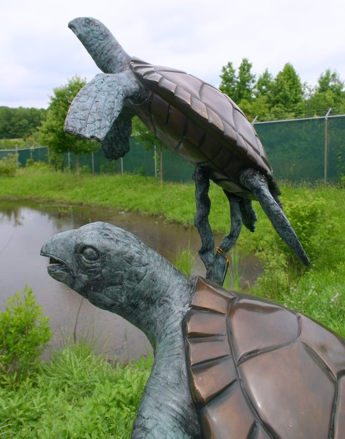 Bronze Two Turtles Fountain