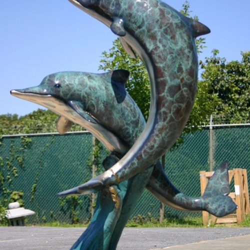 Bronze 2 Jumping Dolphins