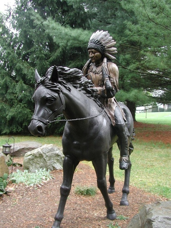 Indian Chief Riding a Horse