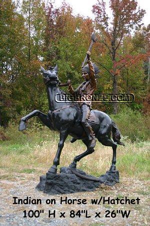Tomahawk Warrior Riding a Horse