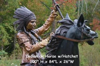 Tomahawk Warrior Riding a Horse