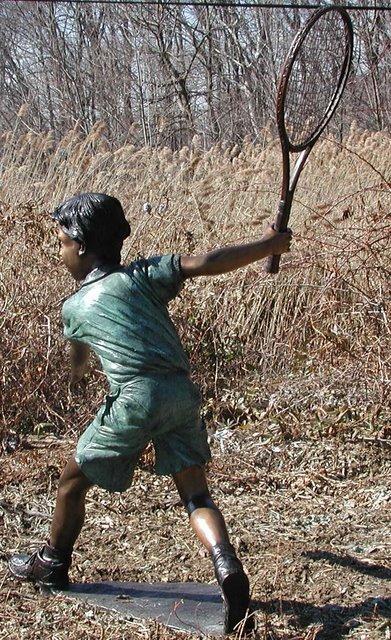 Bronze Tennis Boy