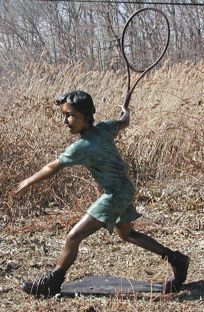 Bronze Tennis Boy