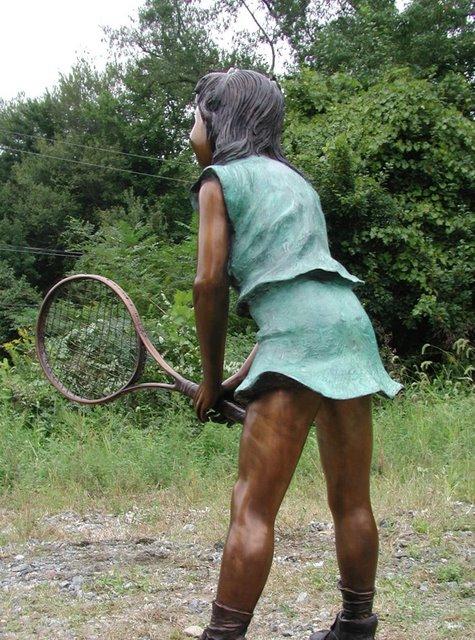 Bronze Tennis Girl