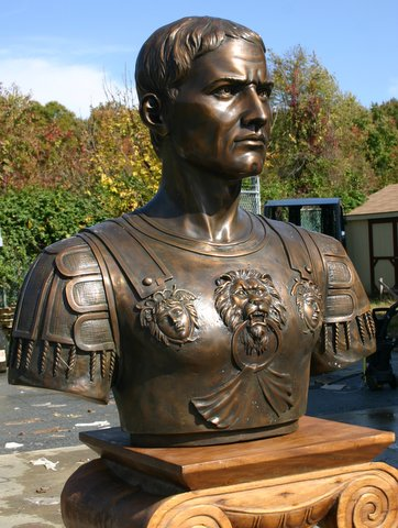 Julius Caesar Bust (Military) Large