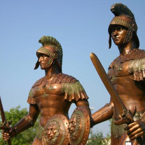 Bronze Roman Trojan Spartan Soldiers