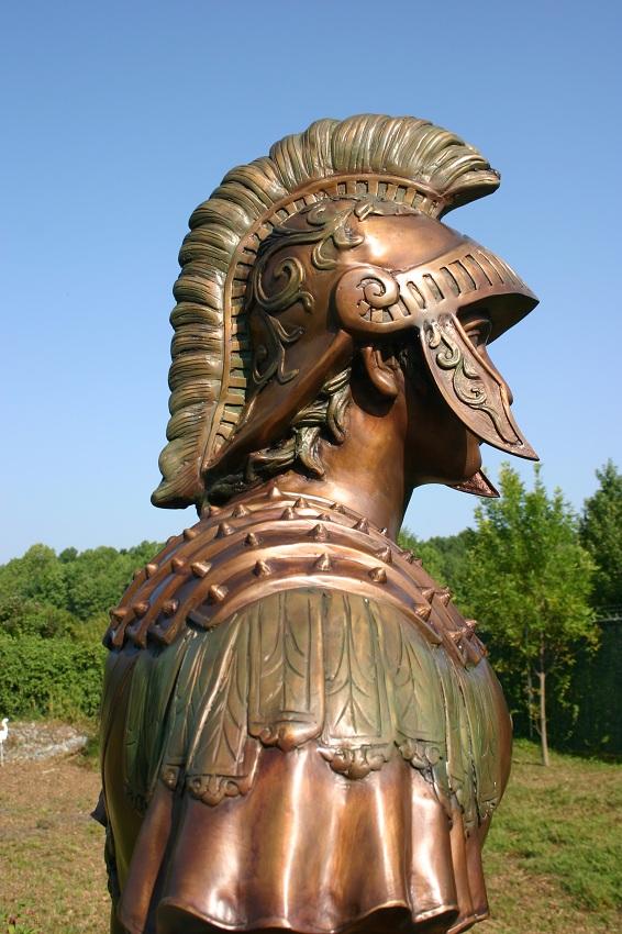 Bronze Roman Trojan Spartan Soldiers Pair