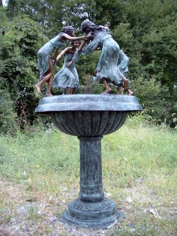 Four (4) Dancing Ladies Urn Fountain