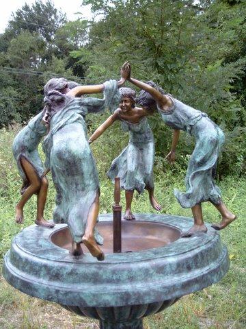 Four (4) Dancing Ladies Urn Fountain