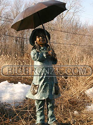 Girl Holding Umbrella