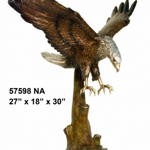 Flying Eagle on Marble Base