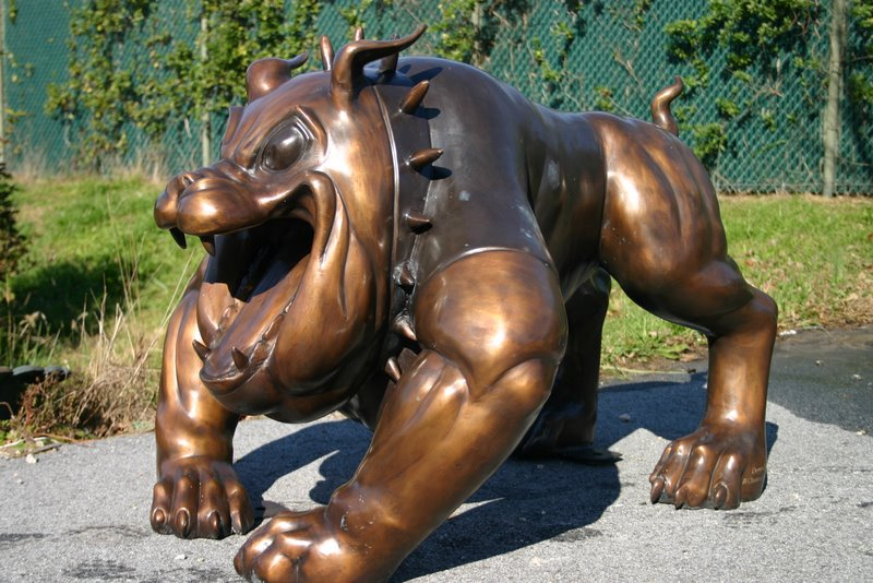 Large Spike Bull Dog Mascot