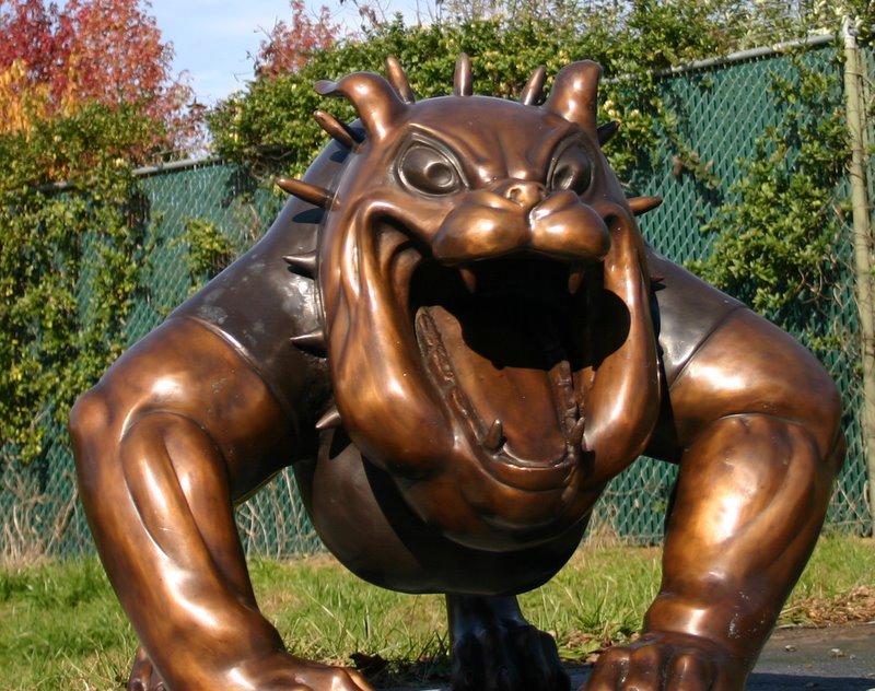 Medium Spike Bull Dog Mascot