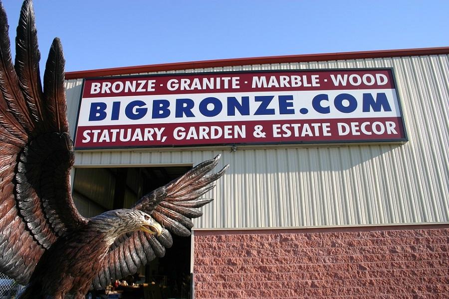 Giant Eagle Monumental Bronze Mascot Hawk Osprey Falcon